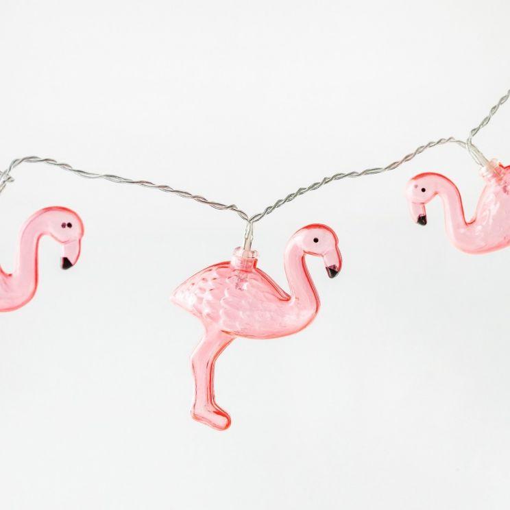 Łańcuch Świecący Flamingos