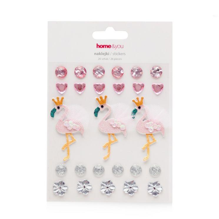 Komplet Naklejek Flamingi