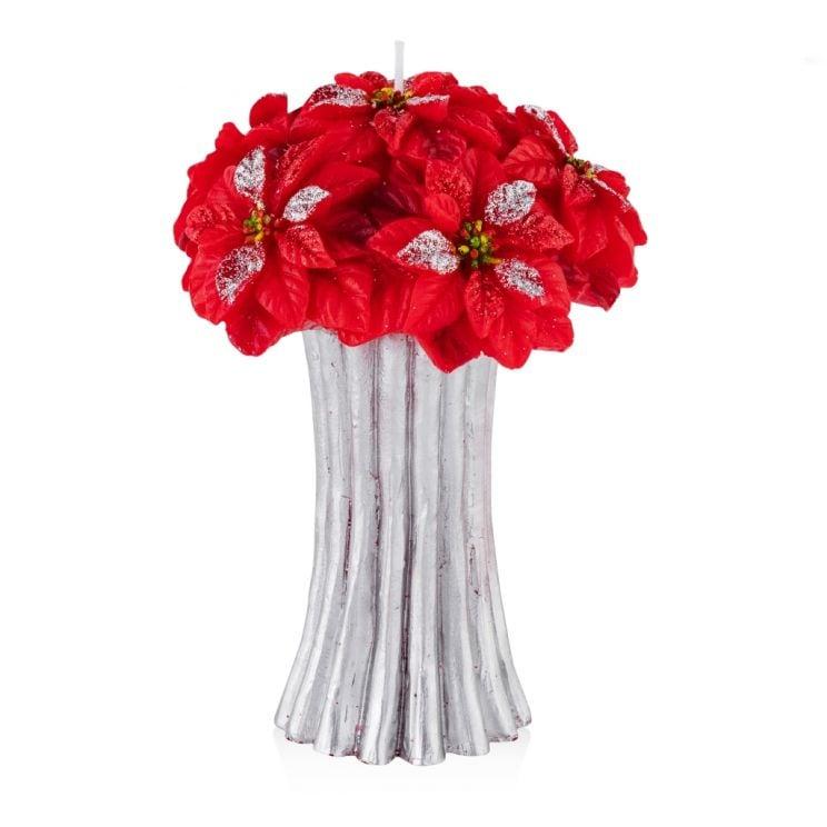 Świeca Poinsettina Bunch