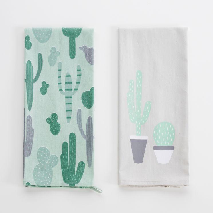 Komplet Ścierek Succulent