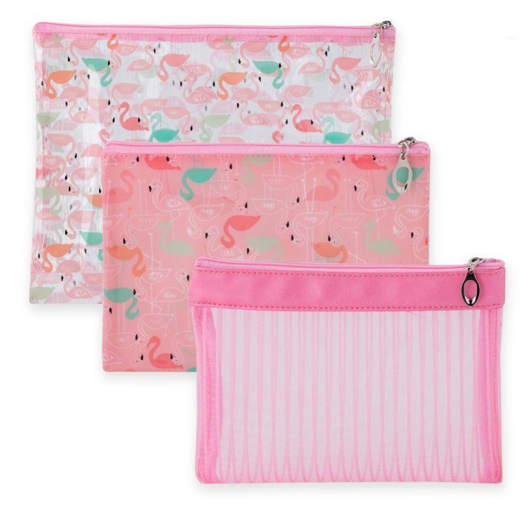 Komplet Kosmetyczek Flamingle