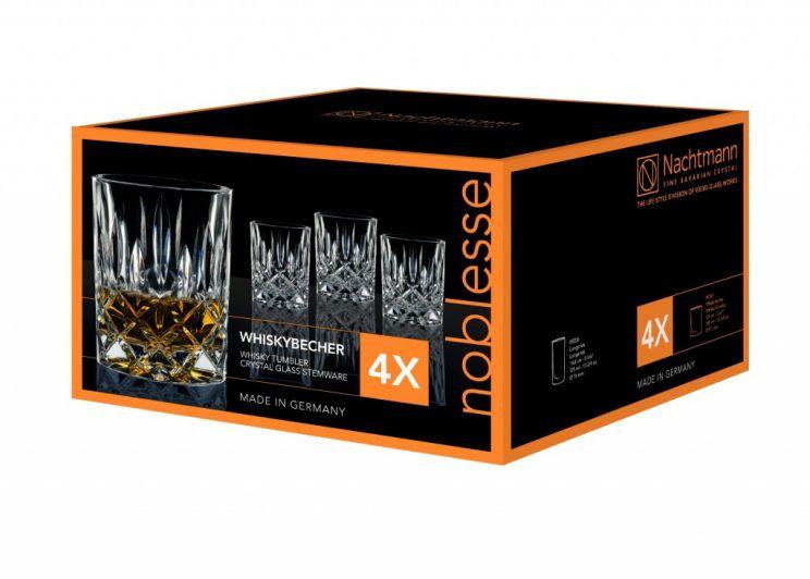 Komplet 4 Szklanek Whisky Noblesse